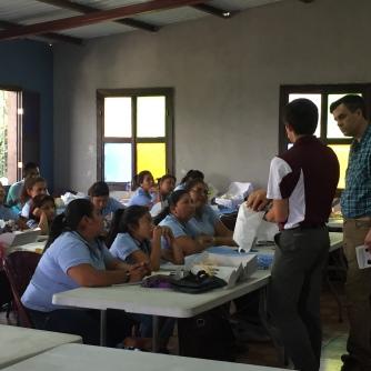 Pediatric resident physician Dr. Ben Silva co-taught the program.