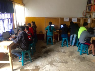 The computer lab installed last year at Escuela San Bartolome has been a huge success!