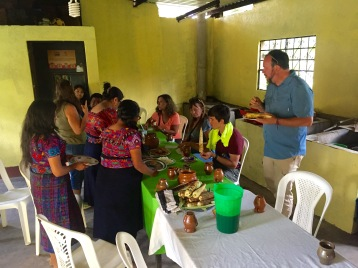 Group lunch at the Escuela San Bartolome after the wonderful show.