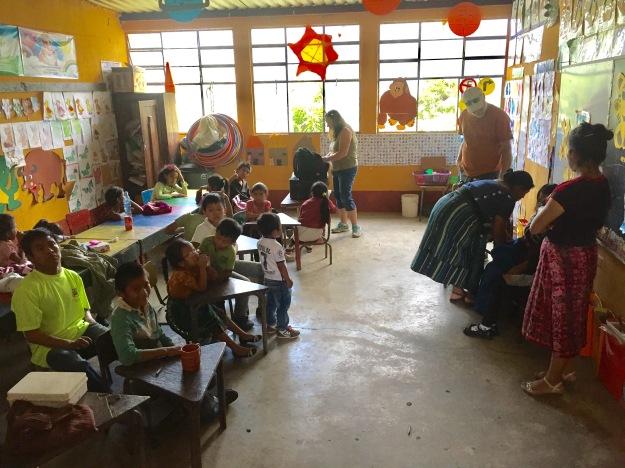 Special needs class at Escuela San Bartolome.